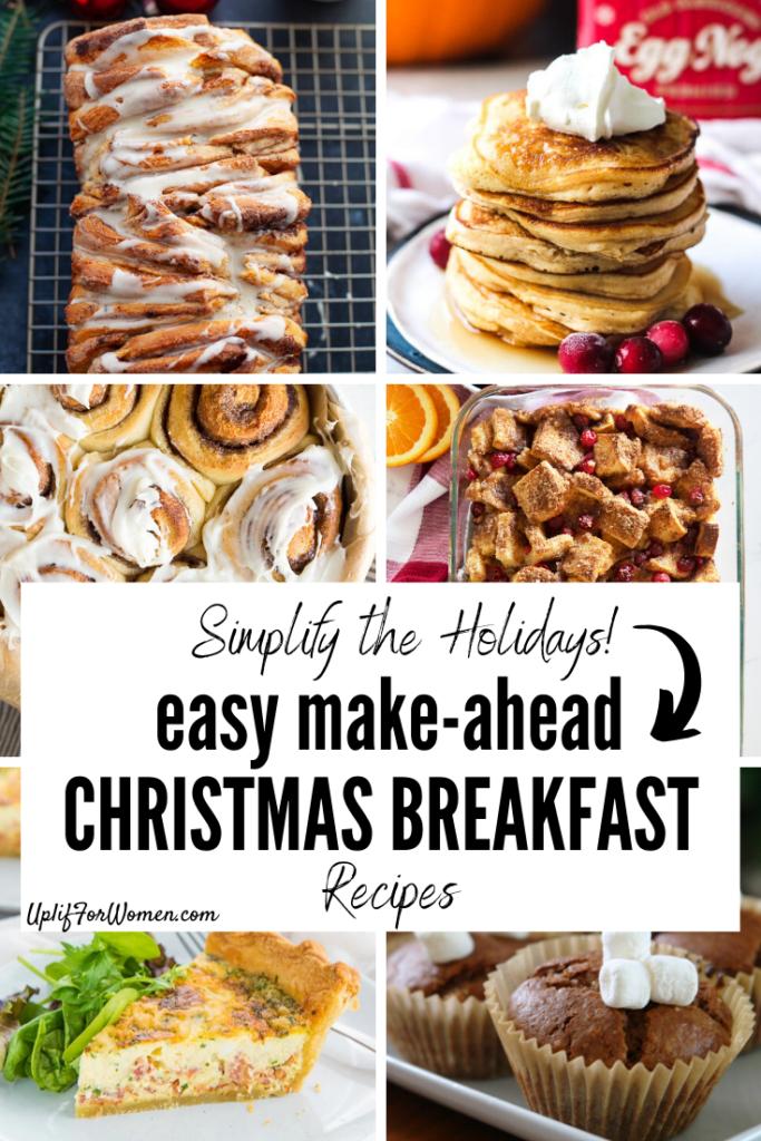 Easy Make Ahead Christmas Breakfast